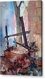 Rusty Tub Acrylic Print by Micheal Jones