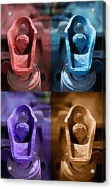 Acrylic Print featuring the photograph Rusty Valves by WB Johnston