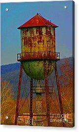 Rusty Water Tower Acrylic Print by Beth Ferris Sale