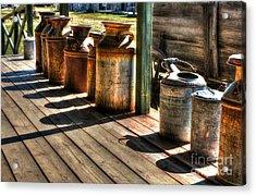 Rusty Western Cans 1 Acrylic Print by Mel Steinhauer