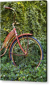 Rusty Wheel Acrylic Print by Debra and Dave Vanderlaan