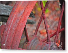 Rusty Wheel Acrylic Print