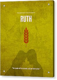 Ruth Books Of The Bible Series Old Testament Minimal Poster Art Number 8 Acrylic Print