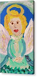 Acrylic Print featuring the painting Ruth E. Angel by Mary Carol Williams