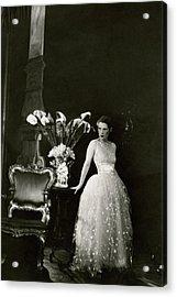 Ruth Gordon Performing In Serena Blandish Acrylic Print by Cecil Beaton