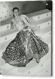 Ruth Gordon Sitting On Stairs Acrylic Print