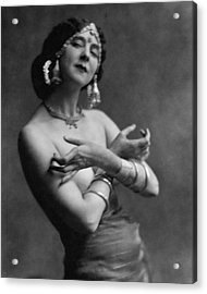Ruth St. Denis Wearing A Headdress Acrylic Print