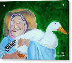 Ruthie The Duck Lady Acrylic Print by Katie Spicuzza