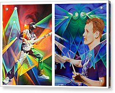 Acrylic Print featuring the painting Ryan And Kris by Joshua Morton