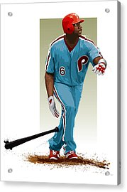Ryan Howard Acrylic Print by Scott Weigner