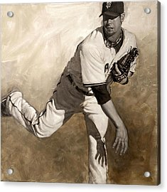 Ryan Vogelsong Perseverence Acrylic Print by Darren Kerr