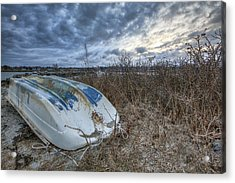 Rye Dinghy Acrylic Print by Eric Gendron
