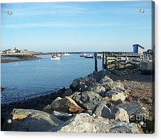 Acrylic Print featuring the photograph Rye Harbor  by Eunice Miller