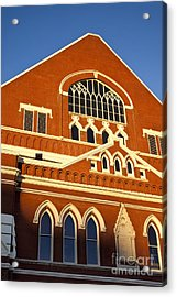 Ryman Auditorium Acrylic Print by Brian Jannsen