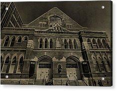 Ryman Auditorium Acrylic Print by Dan Sproul
