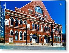 Ryman Auditorium  Acrylic Print