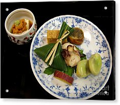 Acrylic Print featuring the photograph Ryokan Dinner by Carol Sweetwood