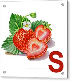 S Art Alphabet For Kids Room Acrylic Print by Irina Sztukowski