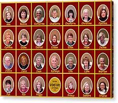 S J A Group Photo Acrylic Print