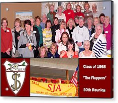 S J A Reunion Collage Flappers Acrylic Print