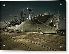 Acrylic Print featuring the photograph S. S. Lane Victory ... W W 2 Era Victory Class Cargo Ship by Chuck Caramella