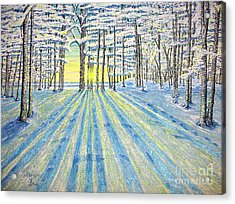 Acrylic Print featuring the painting S. Winter. by Viktor Lazarev