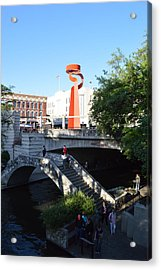 Acrylic Print featuring the photograph Sa River Walk by Shawn Marlow