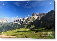 Saas Pordoi And Fassa Valley Acrylic Print