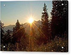 Sabbath Sunset Acrylic Print by Tikvah's Hope
