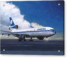 Sabena Dc-10 At Kinshasa Acrylic Print by Nop Briex
