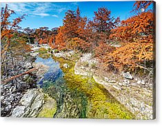 Sabinal River Magic Utopia Texas Hill Country Acrylic Print