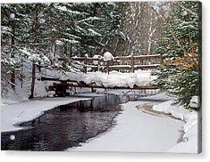Sable Creek Footbridge  Acrylic Print