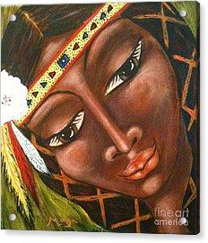 Sacajawea Acrylic Print by Maya Telford