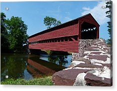 Acrylic Print featuring the photograph Sachs Covered Bridge by Cindy McDaniel