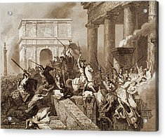 Sack Of Rome By The Visigoths Led By Alaric I In 410 Acrylic Print