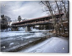 Saco River Bridge Acrylic Print by Eric Gendron