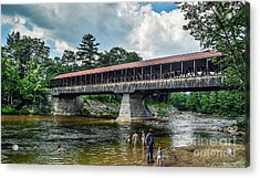 Acrylic Print featuring the photograph Saco River Covered Bridge  by Debbie Green