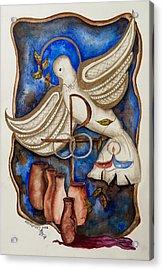 Sacrament Of Matrimony Acrylic Print by Laura LaHaye