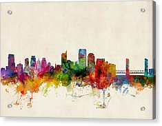 Sacramento California Skyline Acrylic Print