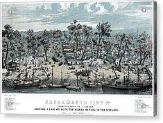 Sacramento City - California - 1850 Acrylic Print