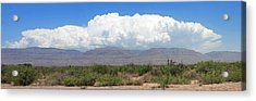 Sacramento Mountains Storm Clouds Acrylic Print by Jack Pumphrey
