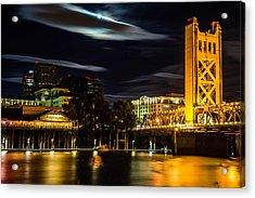 Sacramento Night Acrylic Print