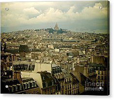 Sacre-coeur And Roofs Of Paris. France.europe. Acrylic Print by Bernard Jaubert