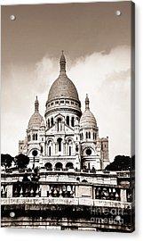 Sacre Coeur Basilica In Paris Acrylic Print by Elena Elisseeva