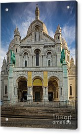 Sacre Coeur Entrance Acrylic Print by Inge Johnsson