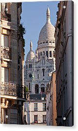 Sacre Coeur In The Montmartre District Acrylic Print