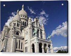Sacre Coeur Paris Acrylic Print by Gary Eason