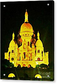 Sacre-coure Cathedral Paris  Acrylic Print by John Malone