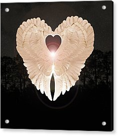 Acrylic Print featuring the digital art Sacred Angel by Eric Kempson