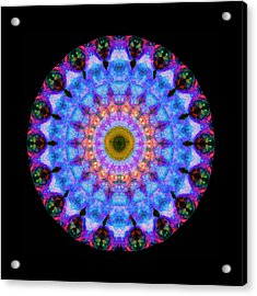 Sacred Crown - Mandala Art By Sharon Cummings Acrylic Print by Sharon Cummings